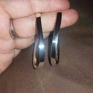STERLING SILVER BOLD OVAL HOOPS